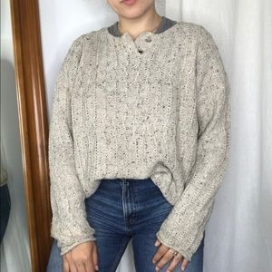 THE LIMITED Oatmeal Knit Pullover sweater cozy